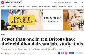 Example of PR survey story