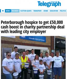 Charity partnership example
