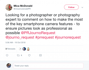 Example of #prrequest