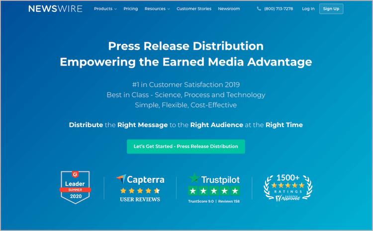 Newswire distribution service