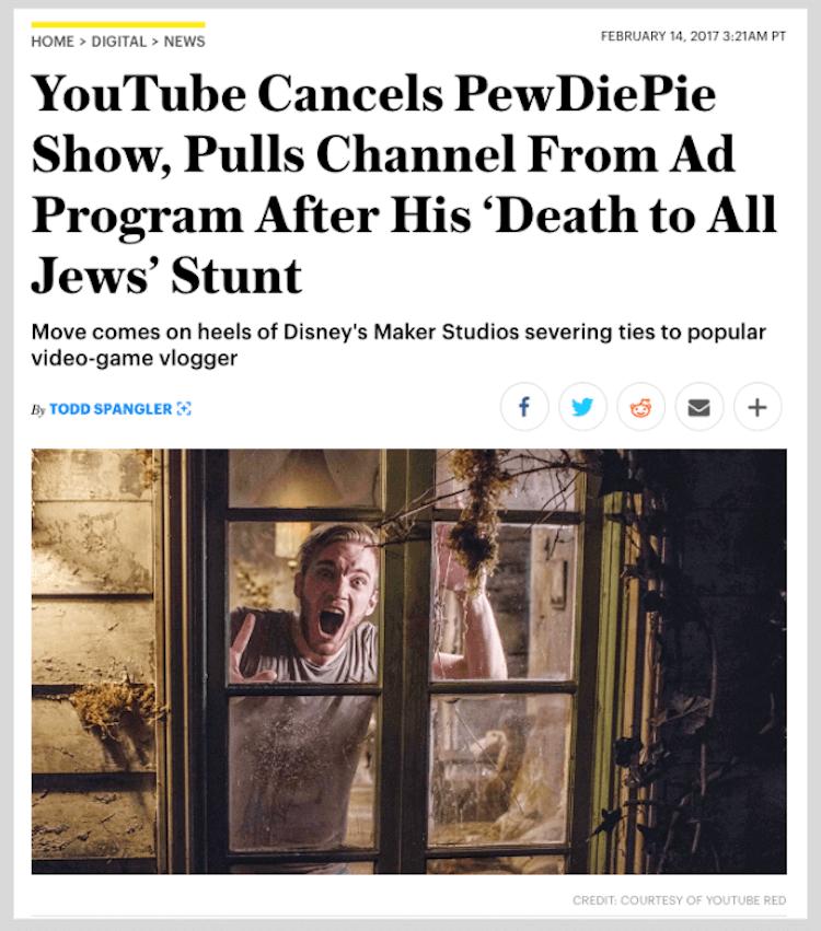 PewDiePie influencer