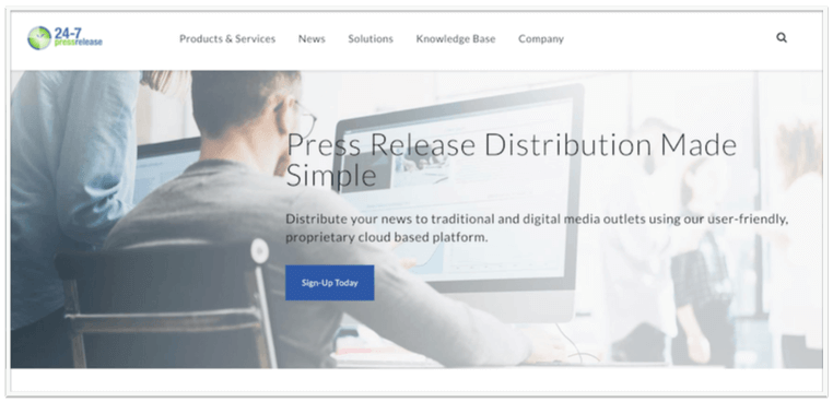press release distribution service 24-7