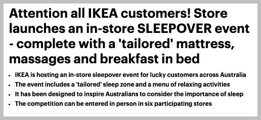 Ikea PR campaign