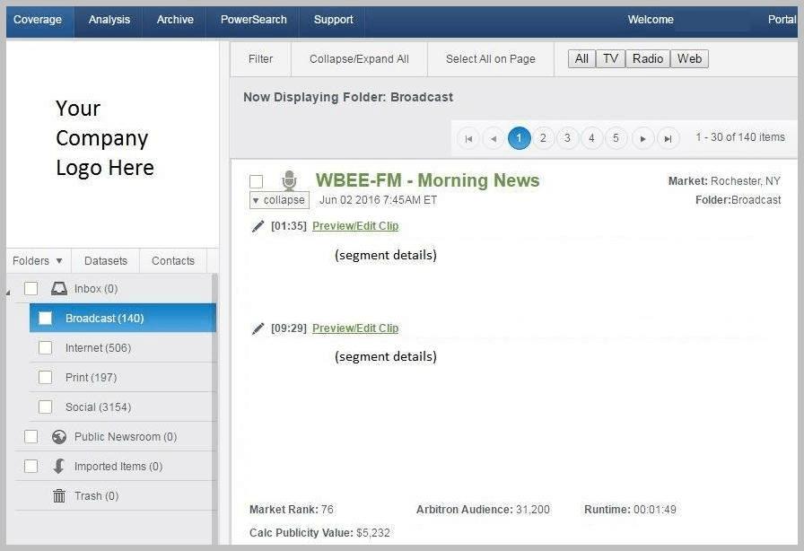 news exposure media monitoring