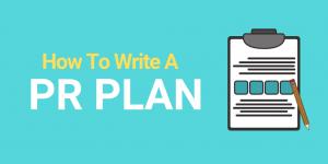 How to write a PR plan