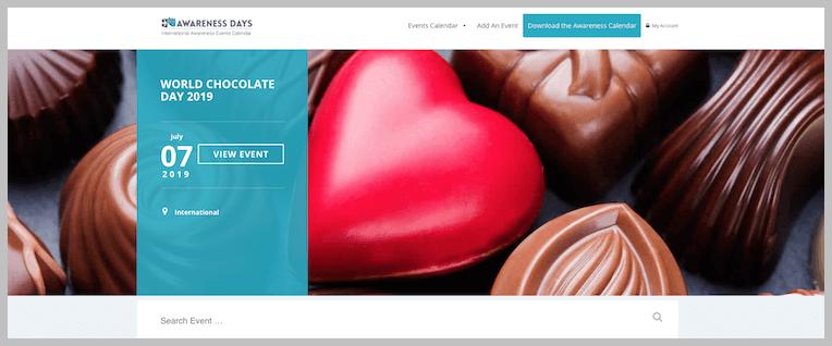 World Chocolate Day PR