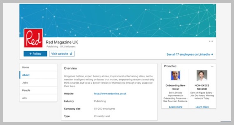 Finding reporters on LinkedIn