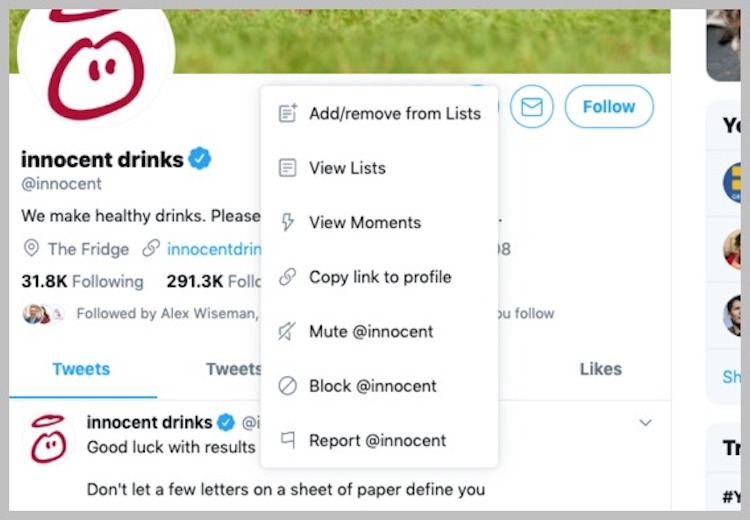 Twitter details for journalists